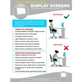 Display Screens Regulations For Computer Operators Poster 420W x 595Hmm - Plastic