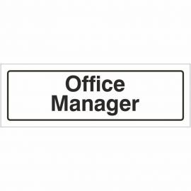 Office Manager Door Sign