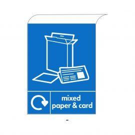 Mixed Paper & Card Curve Top Sign  Aluminium Composite