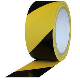 Black And Yellow Hazard Floor Marking Tape - 50mm x 33m