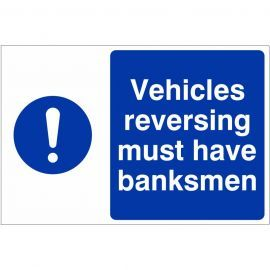 Vehicles Reversing Must Have Banksmen Custom Logo Sign