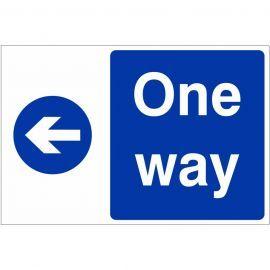 One Way Arrow Left Custom Logo Sign