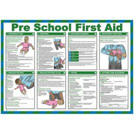 Pre School First Aid Laminated Poster