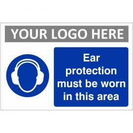 Ear Protection Must Be Worn In This Area Sign (Landscape)