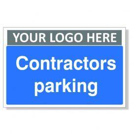Contractors Parking Custom Logo Sign