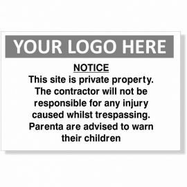 This Site Is Private Property Custom Logo Sign