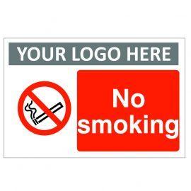 No Smoking Custom Logo Sign