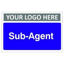 Sub-Agent Custom Logo Door Sign