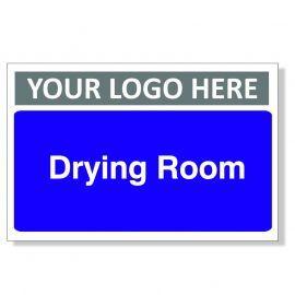 Drying Room Custom Logo Door Sign