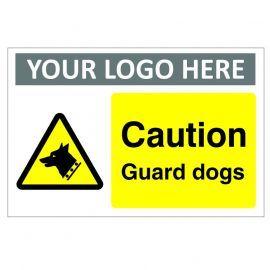Caution Guard Dogs Custom Logo CCTV Warning Sign