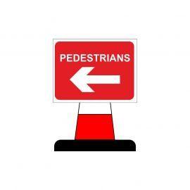 Pedestrian Arrow Left Aluminium Composite Cone Sign