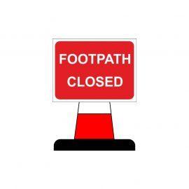 Footpath Closed Aluminium Composite Cone Sign