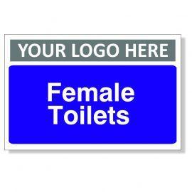 Female Toilets Custom Logo Door Sign