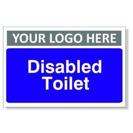 Disabled Toilet Custom Logo Door Sign