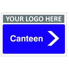 Canteen Arrow Right Custom Logo Door Sign