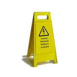 Caution Electrical Testing In Progress Custom Made A Board Freestanding Sign 600mm