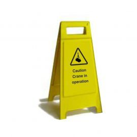 Caution Crane In Operation Custom Made A Board Freestanding Sign 600mm