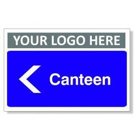 Canteen Arrow Left Custom Logo Door Sign
