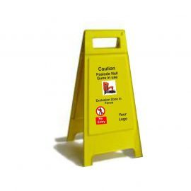 Caution Paslode Nail Guns In Use Exclusive Zone In Force Custom Made A Board Freestanding Sign 600mm