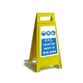 P.P.E Must Be Worn In This Area Custom Made A Board Freestanding Sign 600mm