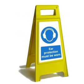Ear Protection Must Be Worn Custom Made A Board Freestanding Sign 600mm