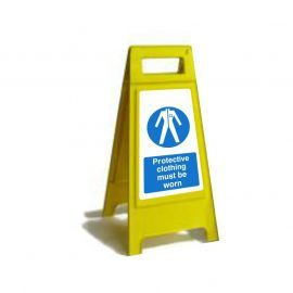Protective Clothing Must Be Worn Custom Made A Board Freestanding Sign 600mm