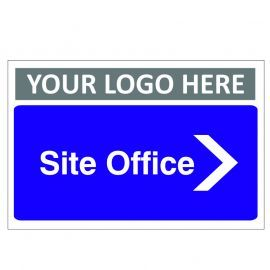 Site Office Arrow Right Custom Logo Door Sign