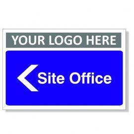 Site Office Arrow Left Custom Logo Door Sign