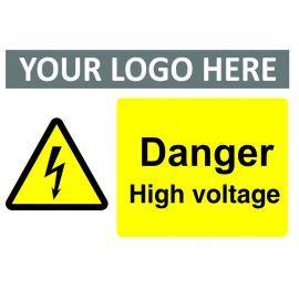 Danger High Voltage Custom Logo Warning Sign