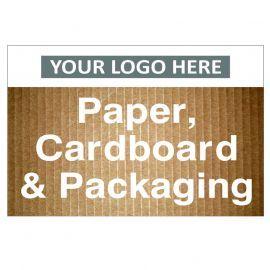Paper Cardboard & Packaging Custom Logo Recycling Sign