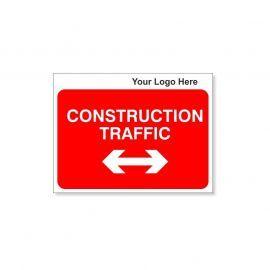 Construction Traffic Custom Logo Sign - 600Wmm x 450Hmm