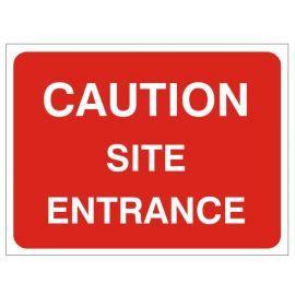 Caution Site Entrance - Traffic Sign - 1050W mm x 750Hmm