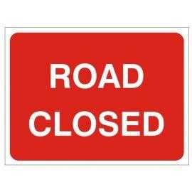 Road Closed - Traffic Sign - 1050Wmm x 750Hmm