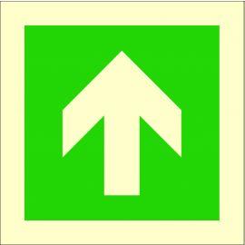 Photoluminescent 'Arrow Up' Self Adhesive Symbol Sign