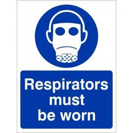 Respirators Must Be Worn Sign