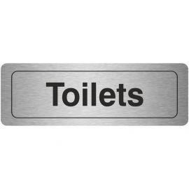 Toilets Aluminium Door Sign