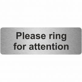 Please Ring For Attention Prestige Premier Door Sign 300X100mm