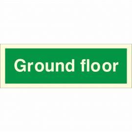 Ground Floor Fire Sign