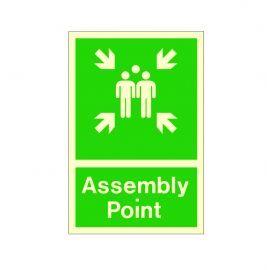 Photoluminescent Assembly Point Sign