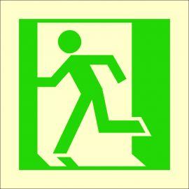 Photoluminescent 'Man Running Left' Symbol Sign