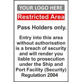 Restricted Area 400W X 600Hmm Composite Board Sign With Your Logo