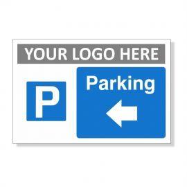 Parking Arrow Left Custom Logo Sign