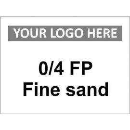 0/4 FP Fine Sand Sign