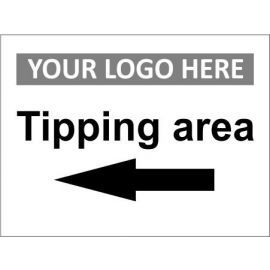 Tipping Area Left Sign