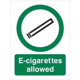 E-Cigarettes Allowed  Sign