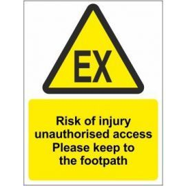 EX Risk Of Injury Sign