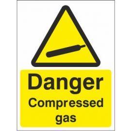 Danger Compressed Gas Sign (Custom)