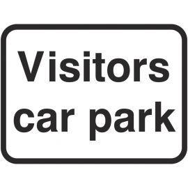 Visitors Car Park Traffic Sign