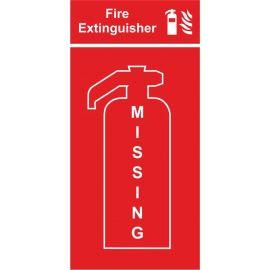 Fire extinguisher location panel missing extinguisher 400w x 800h mm sign 3mm composite aluminium sign