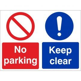 No parking keep clear multi message sign in a variety of sizes and materials
